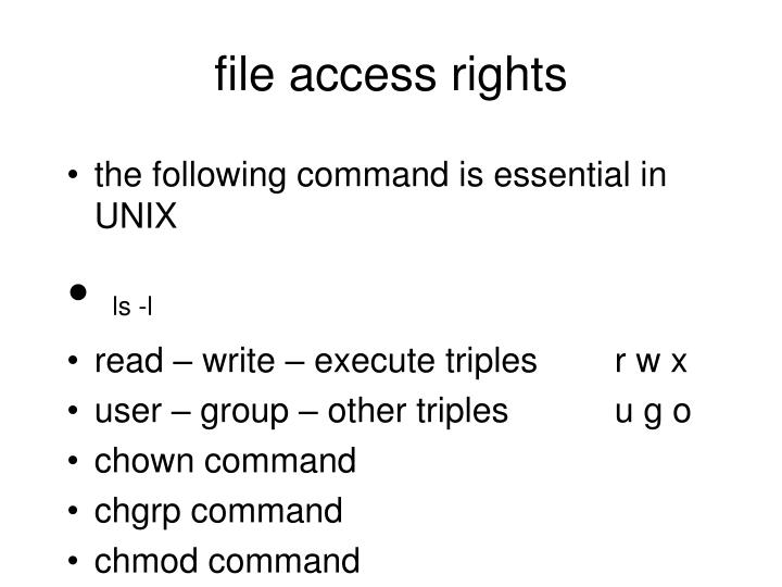 file access rights