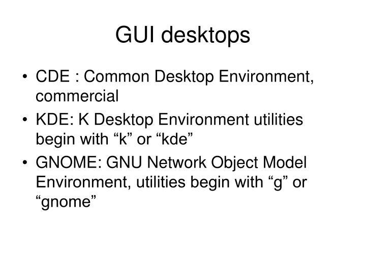 GUI desktops