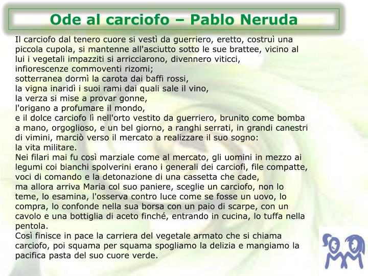 Ode al carciofo – Pablo Neruda