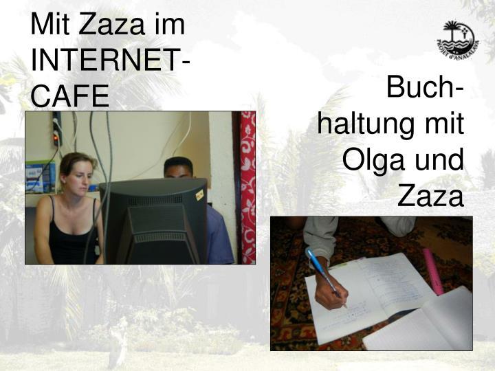 Mit Zaza im INTERNET-CAFE
