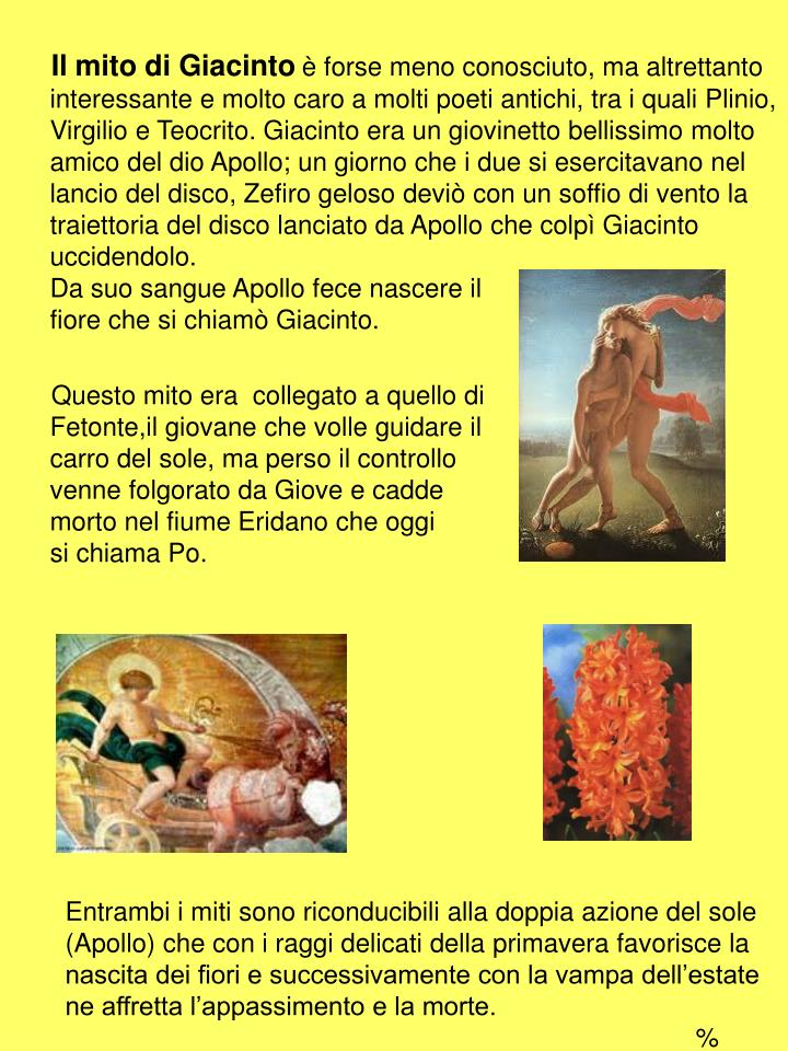 Il mito di Giacinto