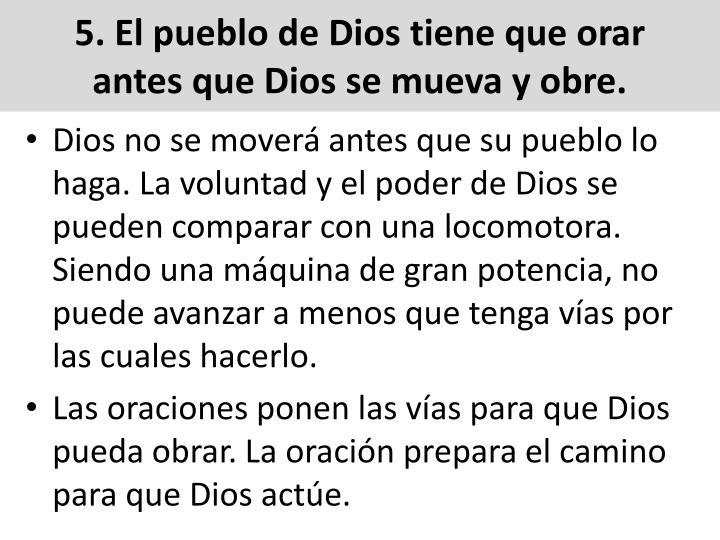 5. El pueblo de Dios tiene que orar