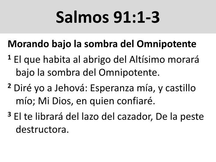 Salmos 91:1-3