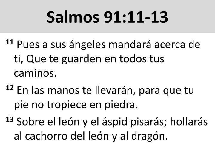 Salmos 91:11-13