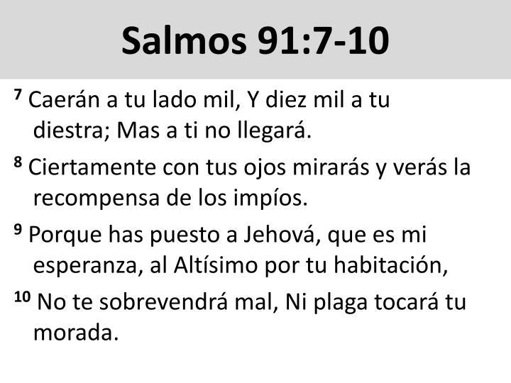 Salmos 91:7-10