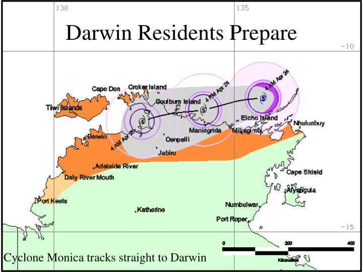 Darwin Residents Prepare
