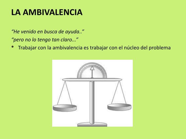 LA AMBIVALENCIA