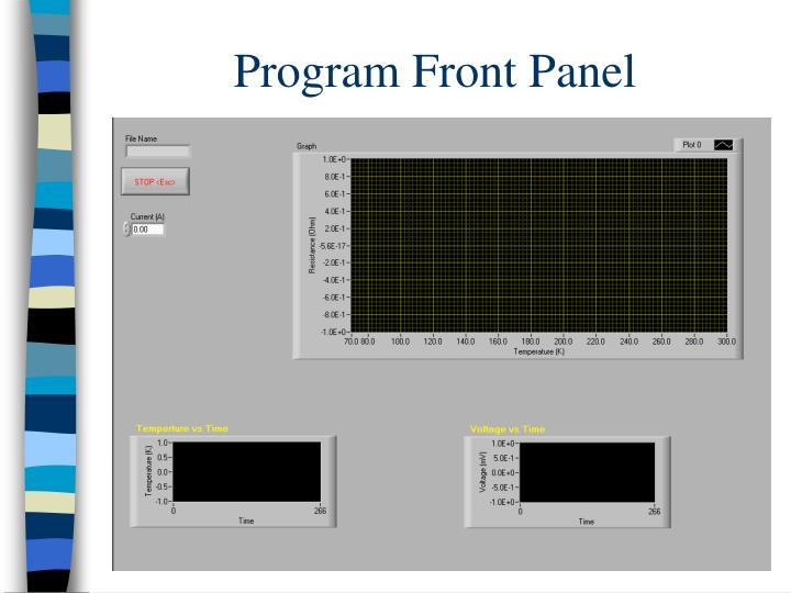 Program Front Panel