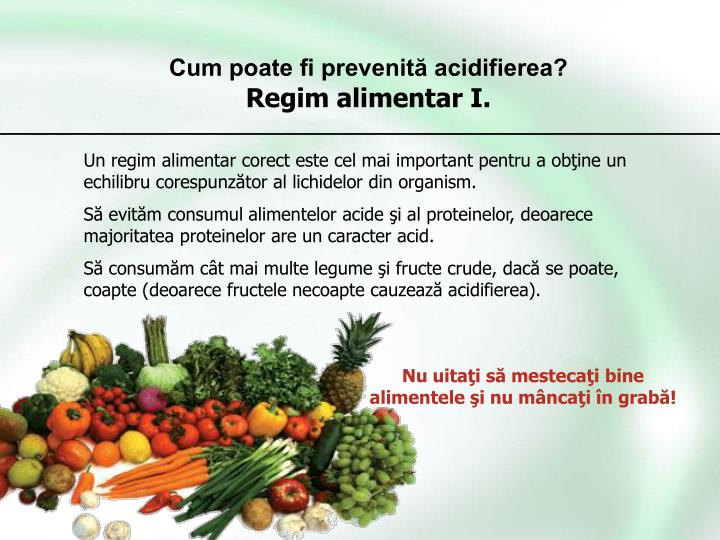 Cum poate fi prevenită acidifierea?
