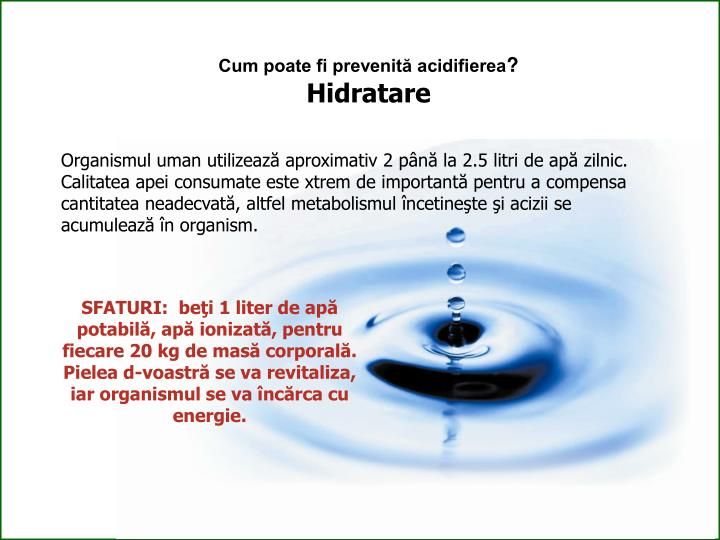 Cum poate fi prevenită acidifierea