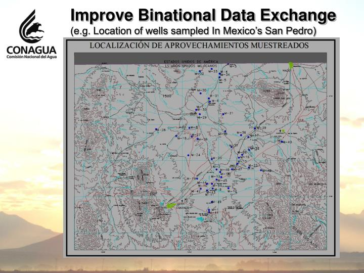 Improve Binational Data Exchange