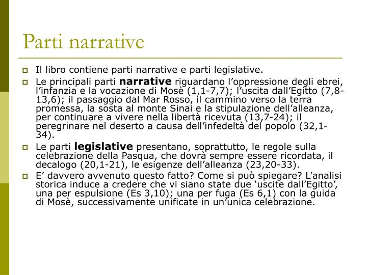 Parti narrative