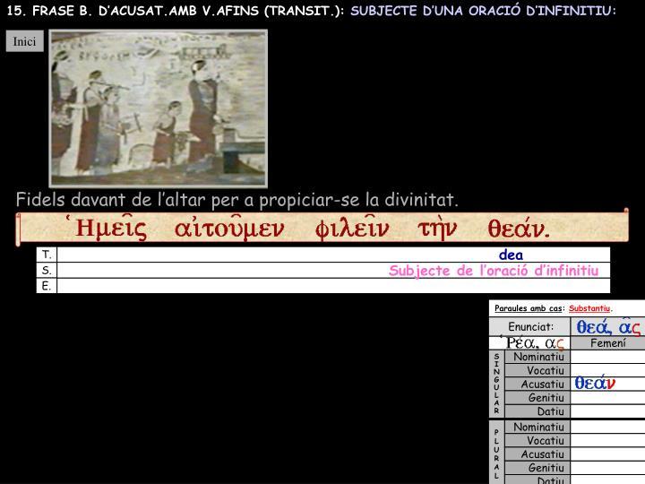 15. FRASE B. D'ACUSAT.AMB V.AFINS (TRANSIT.):