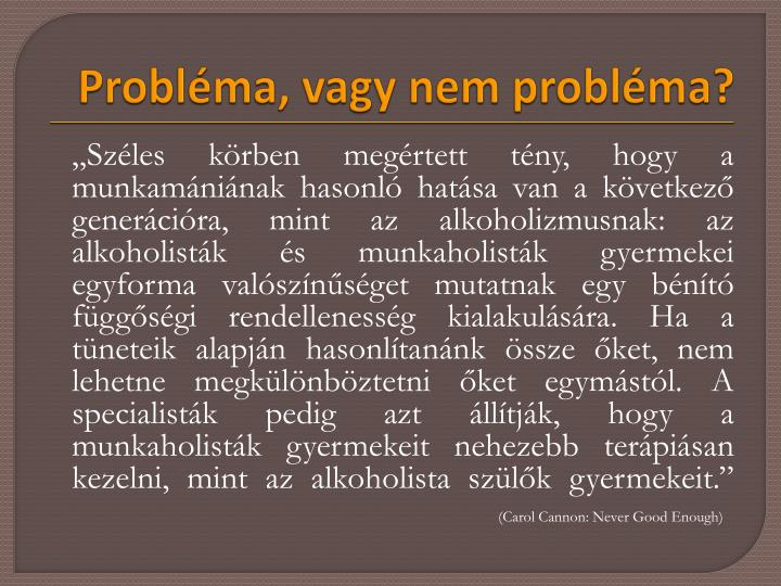 Probléma, vagy nem probléma?