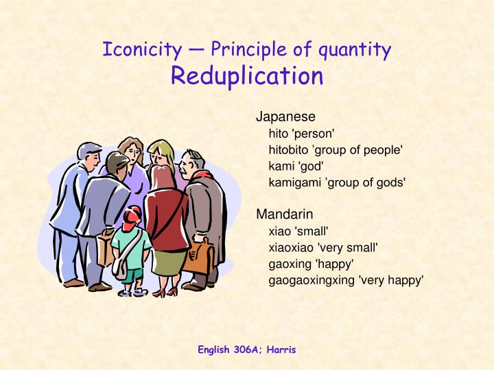 Iconicity — Principle of quantity