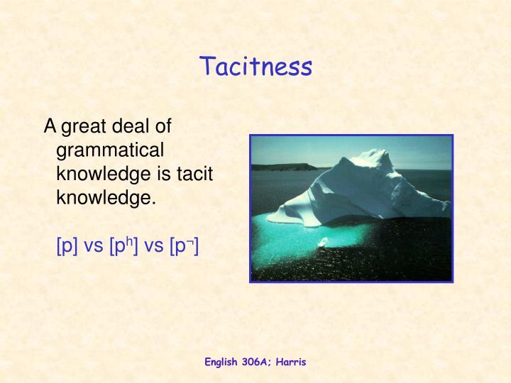 Tacitness