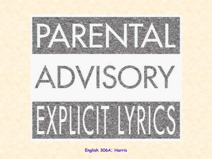 English 306A; Harris
