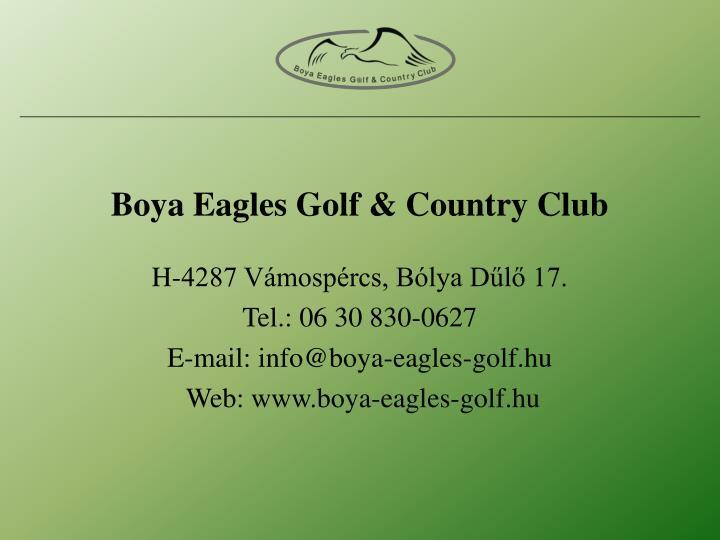 Boya Eagles Golf & Country Club