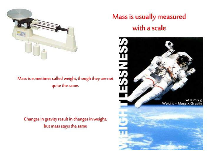 Mass is usually measured