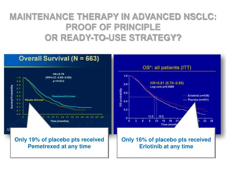 MAINTENANCE THERAPY IN ADVANCED NSCLC: PROOF OF PRINCIPLE