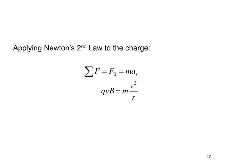 Applying Newton's 2