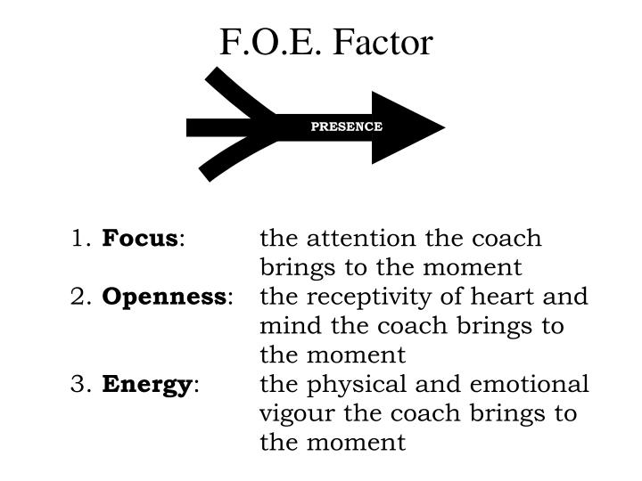 F.O.E. Factor