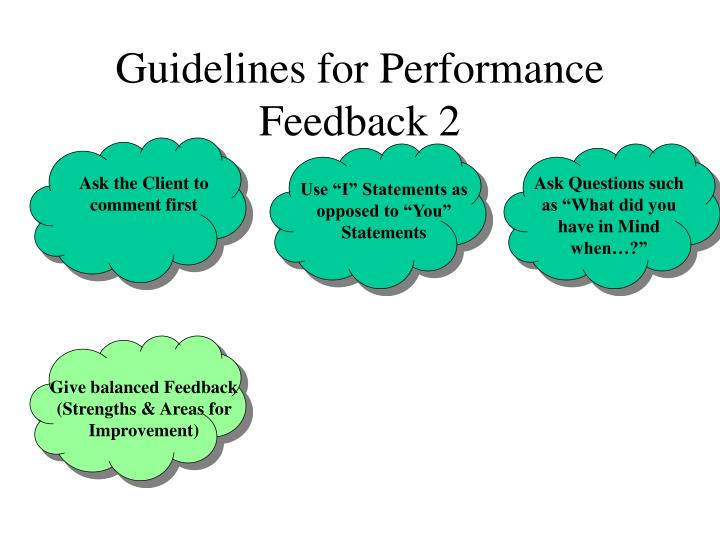 Guidelines for Performance Feedback 2