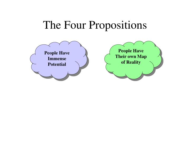 The four propositions1