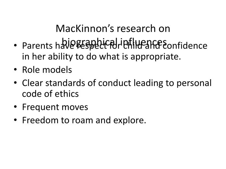 MacKinnon's research on