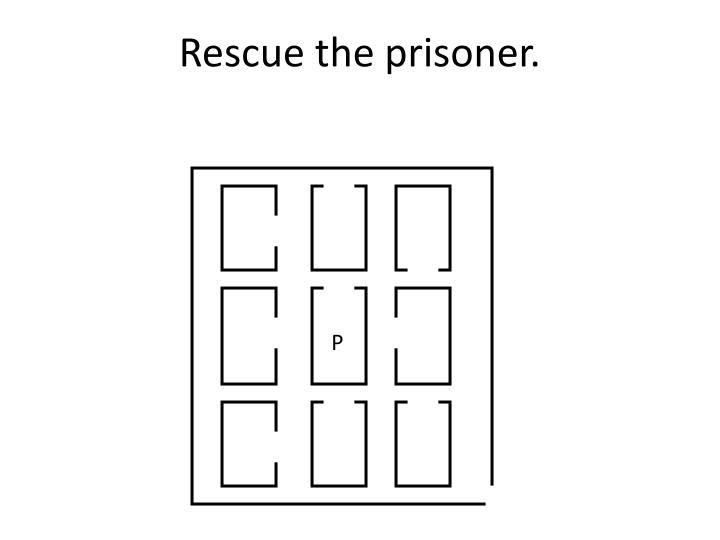Rescue the prisoner.