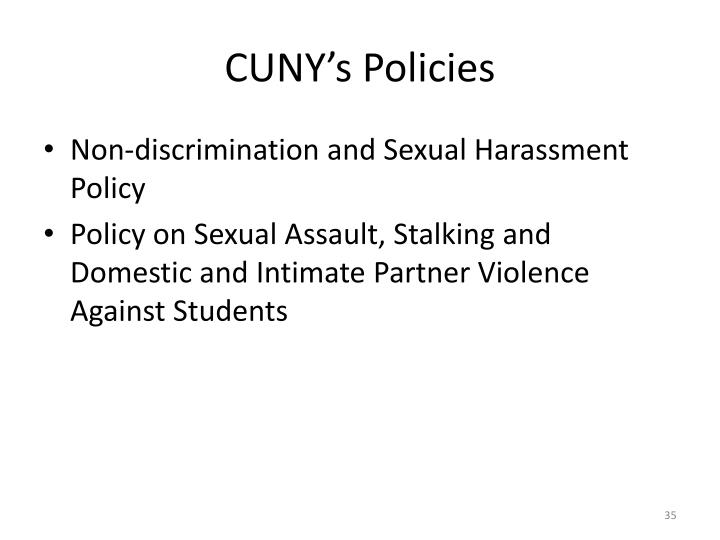 CUNY's Policies