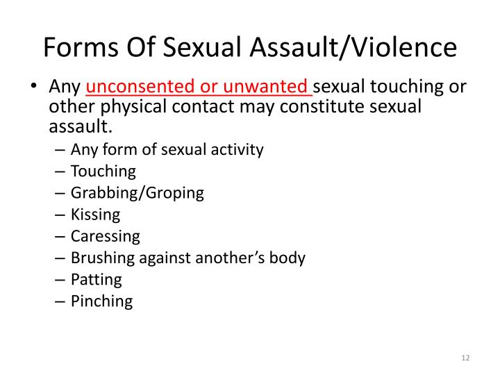 Forms Of Sexual Assault/Violence