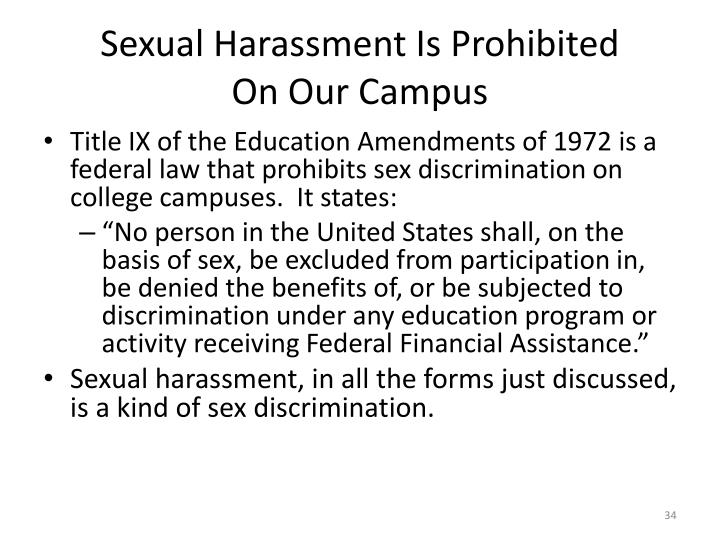 Sexual Harassment Is Prohibited