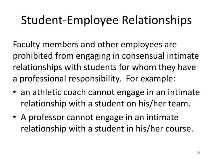 Student-Employee Relationships