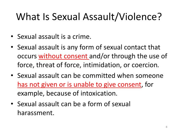 What Is Sexual Assault/Violence?