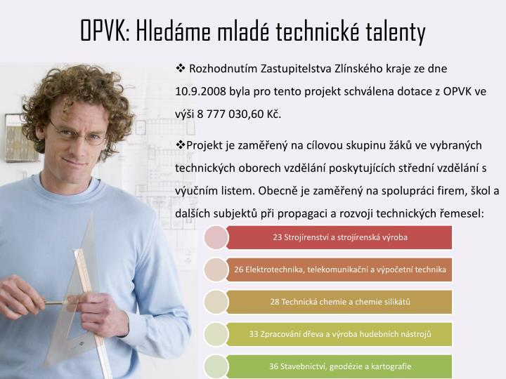 OPVK: Hledáme mladé technické talenty