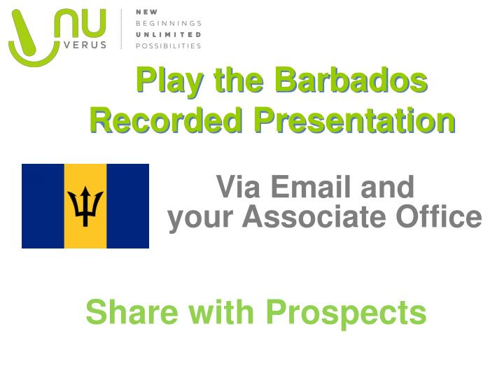 Play the Barbados Recorded Presentation