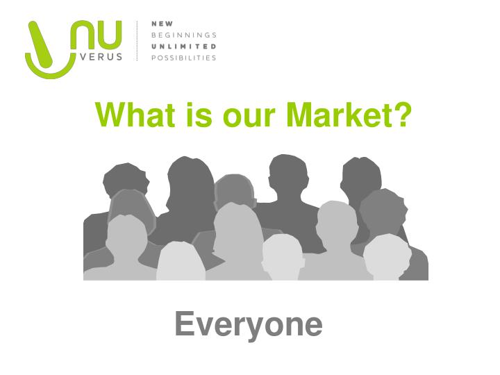 What is our Market?