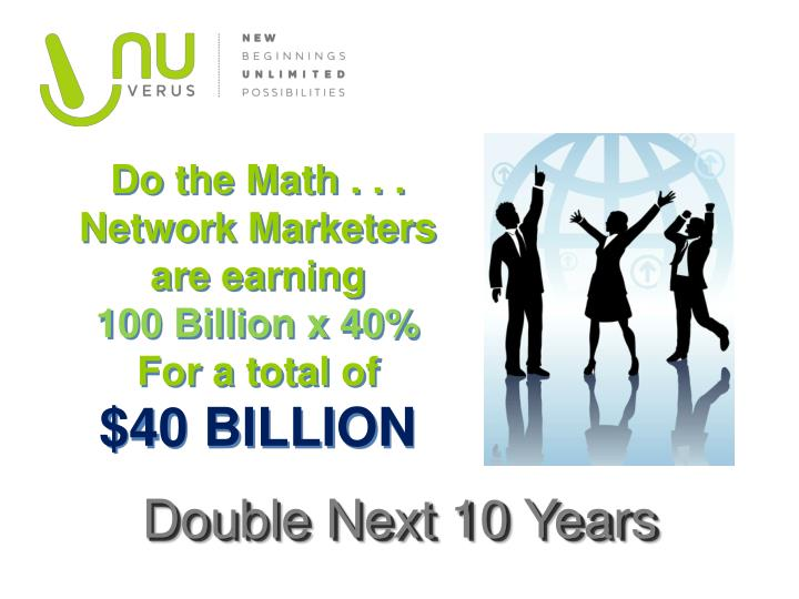 Do the Math . . . Network Marketers