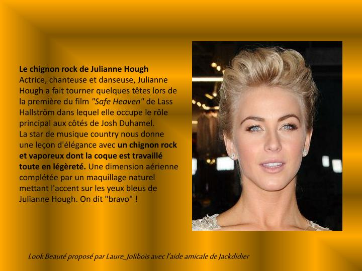 Le chignon rock de Julianne Hough