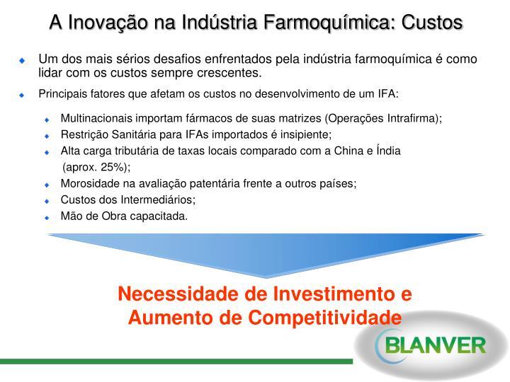 A Inovação na Indústria Farmoquímica: