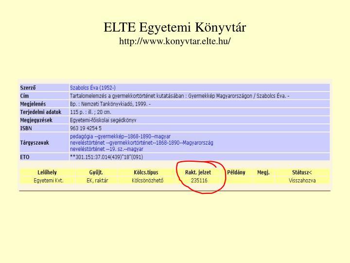 ELTE Egyetemi Könyvtár
