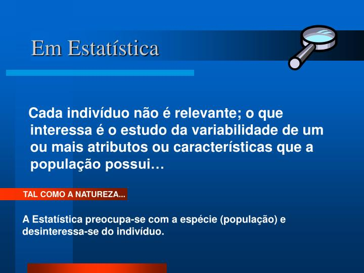 Em Estatística