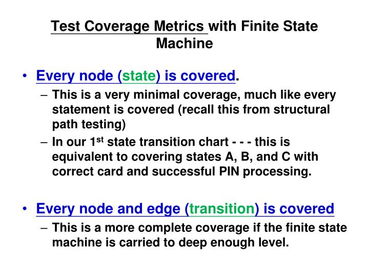 Test Coverage Metrics