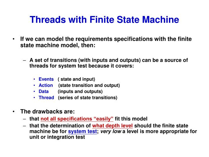 Threads with Finite State Machine