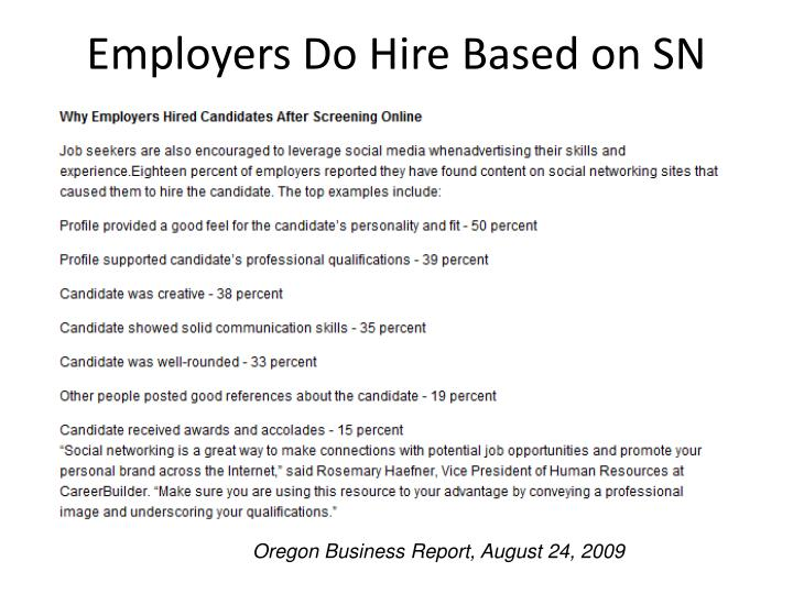 Employers Do Hire Based on SN