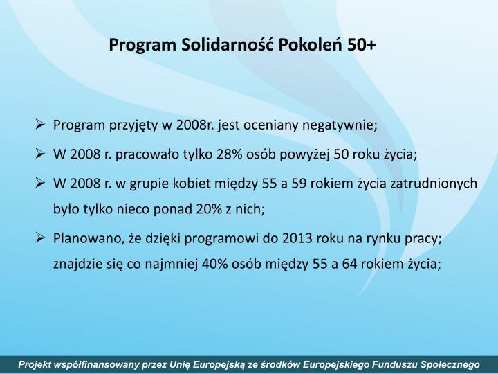Program Solidarność Pokoleń 50+