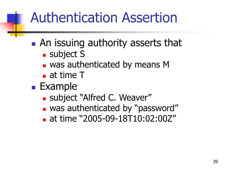 Authentication Assertion