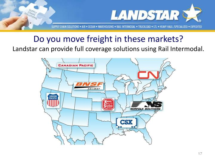 Do you move freight in these markets?