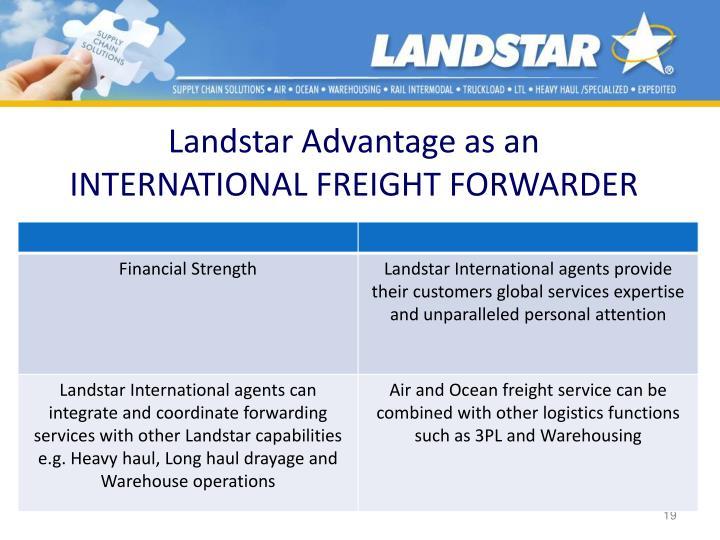 Landstar Advantage as an
